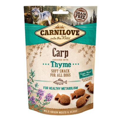 Carnilove Carp enriched with Thyme Soft Snack Dog 200g