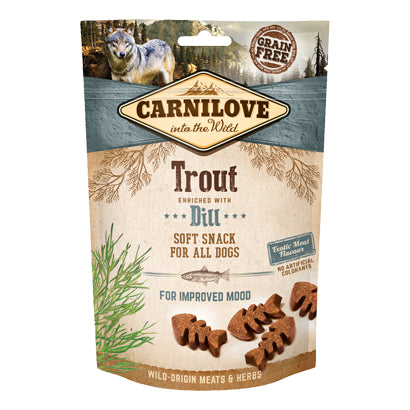 Carnilove Trout enriched with Dill Soft Snack Dog 200g
