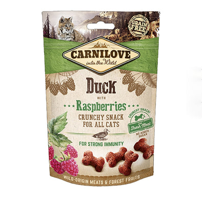 Carnilove Duck with Raspberries Crunchy Snack Cat 50g