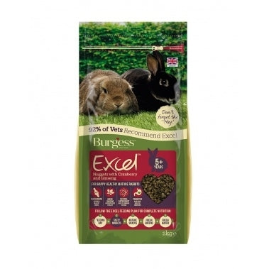 Burgess Excel Mature Rabbits 2kg
