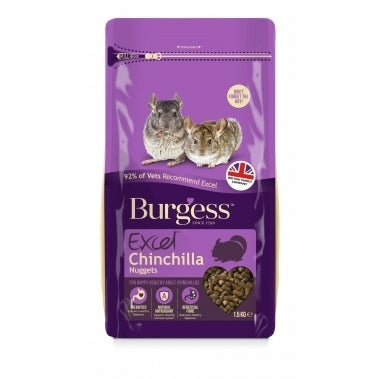 Burgess Excel Adult Chinchila com Menta 1.5kg
