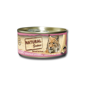 Natural Greatness Wetfood Tuna fillet With Prawns Cat 70gr