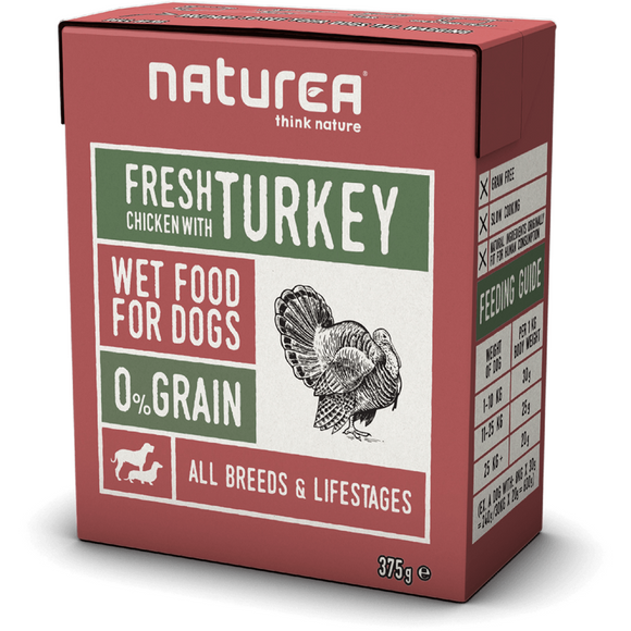 Naturea Wet Food for Dogs Chicken with Turkey 375g