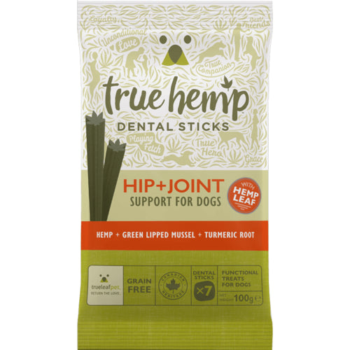 True Hemp Hip + Joint Dental Sticks 100gr