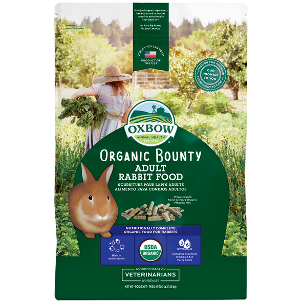Oxbow Organic Bounty Adult Rabbit Food 1.36kg