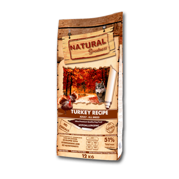 Natural Greatness Turkey Recipe Dog