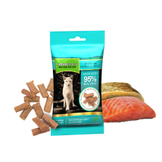 Natures Menu Treats with Salmon and Trout for Cat 60g