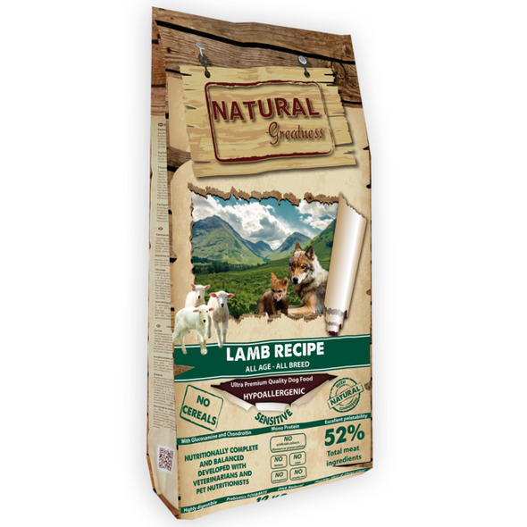 Natural Greatness Lamb Sensitive Dog (2kg e 12kg)
