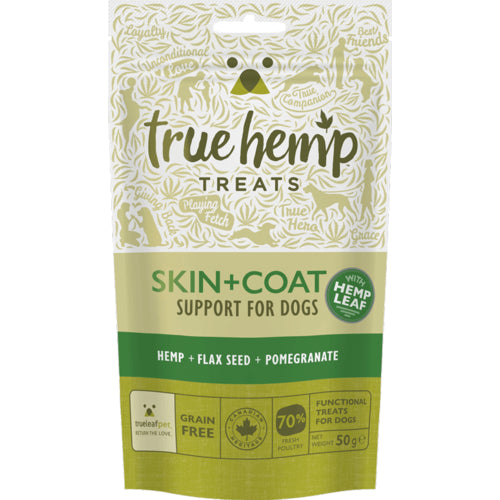 True Hemp Skin + Coat Dog Treats 50g