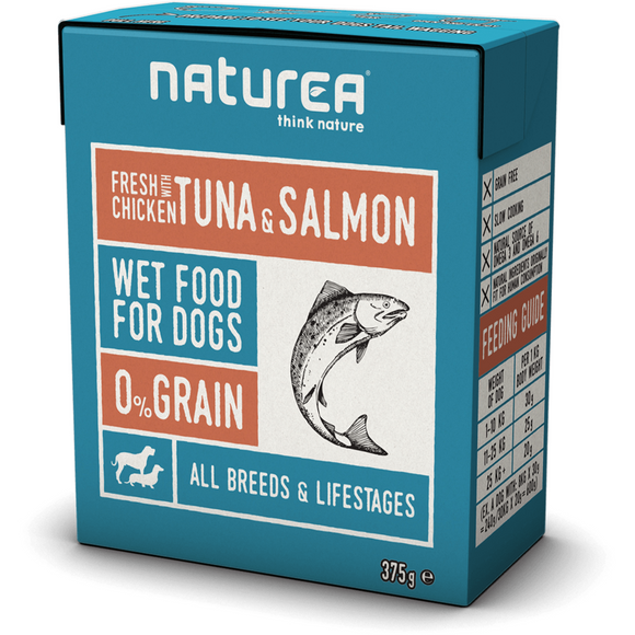 Naturea Wet Food for Dogs Chicken with Tuna&Salmon 375g