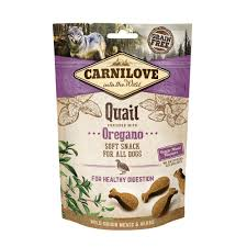 Carnilove Quail enriched with Oregano Soft Snack Dog 200g