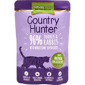 Natures Menu Country Hunter Turkey & Rabbit 85gr