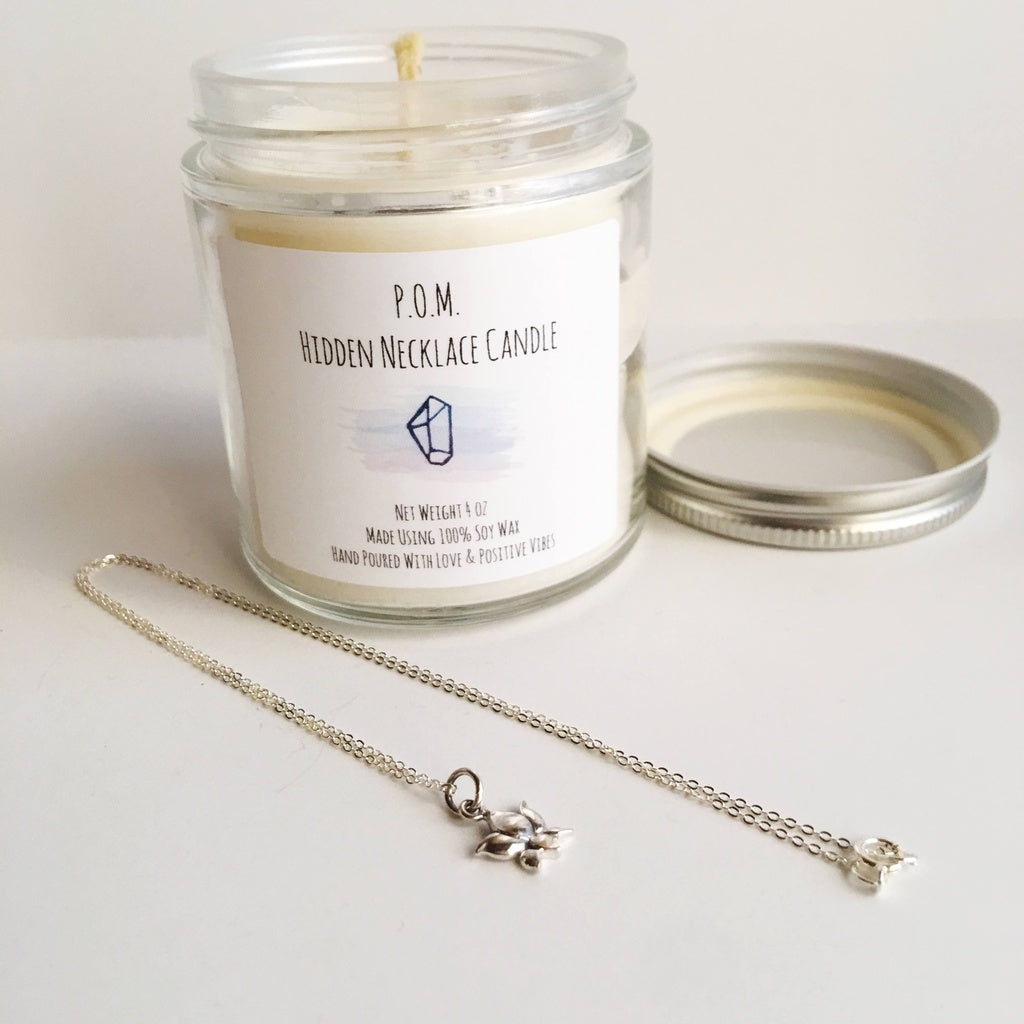 Release Anxiety Blend - Hidden Necklace Soy Wax All Natural Hand Poured Candle - 4 oz