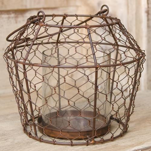 Chicken Wire Pillar Holder