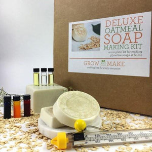 Deluxe DIY Oatmeal Soap Making Kit - Learn how to make home made soaps