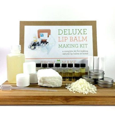 Deluxe DIY Lip Balm Making Kit with Tubs, Tins and Tubes - Learn how to make home made lip balms