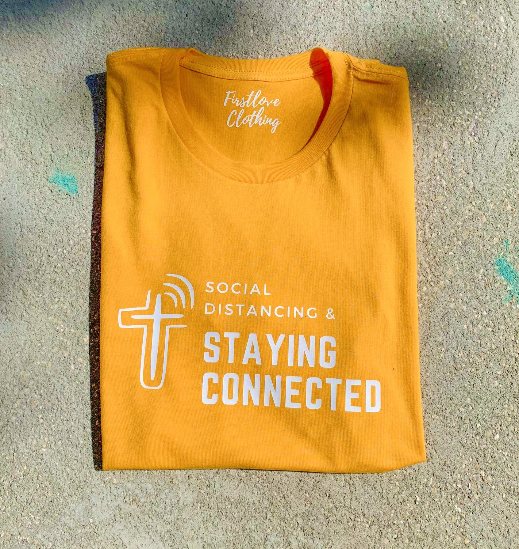 """Social Distancing & Staying Connected"" T-Shirt"