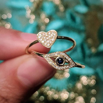 Heart Ring with Diamonds