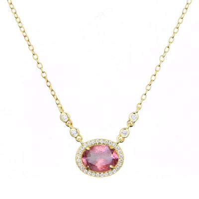 Aura Tourmaline Drop Necklace