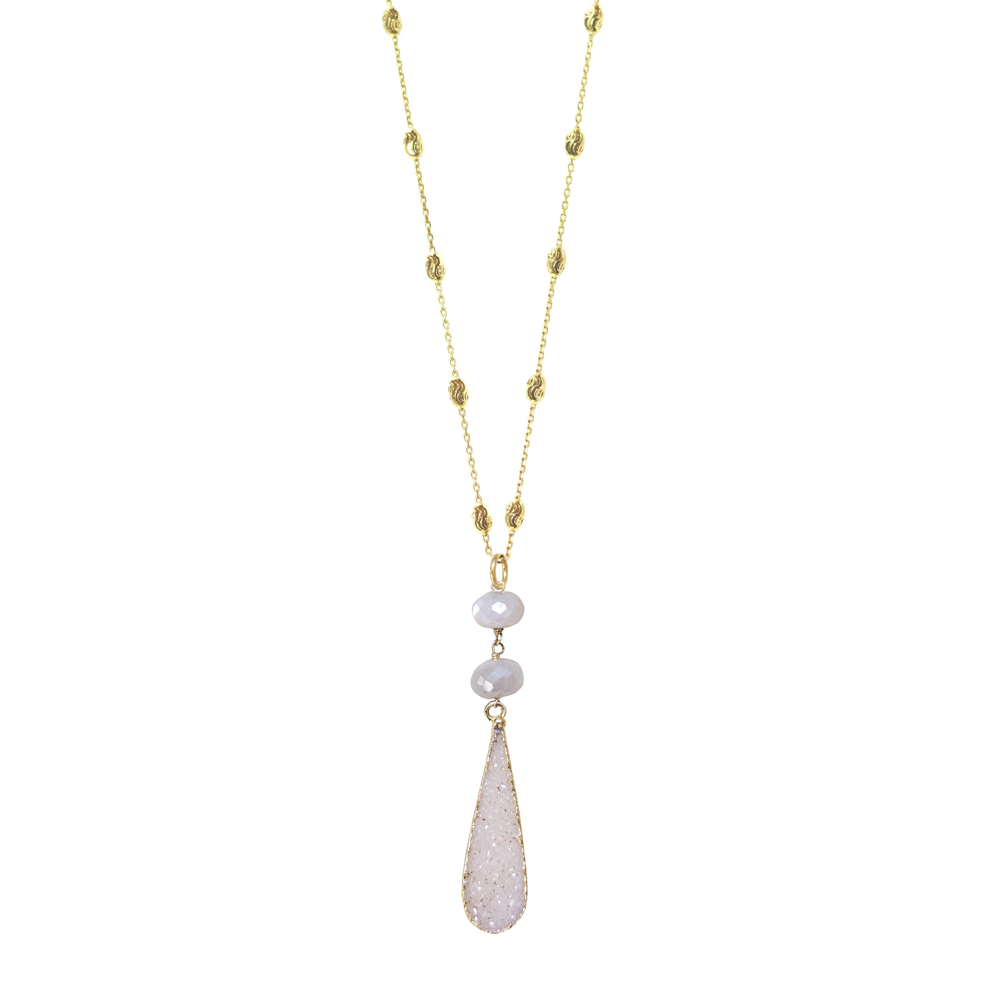 Teardrop Druzy on Chain