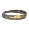 Metallic Leather Bracelet - Thin