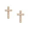 Cross Diamond Studs