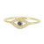 Evil Eye Ring with Sapphire