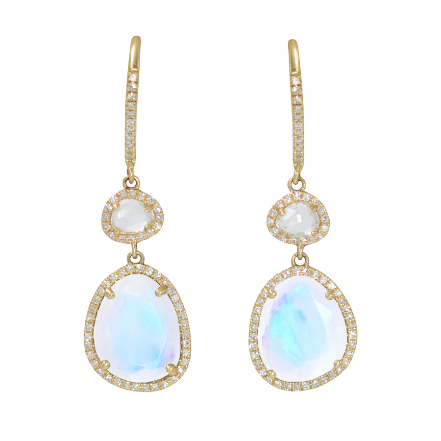 Clara Earrings - Moonstone