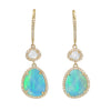 Clara Earrings - Opals