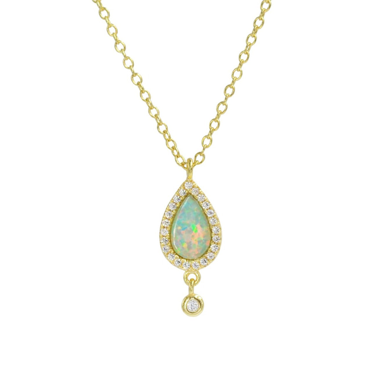Opal Teardrop Necklace