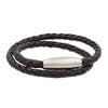 Double Wrapped Men's Leather Bracelet