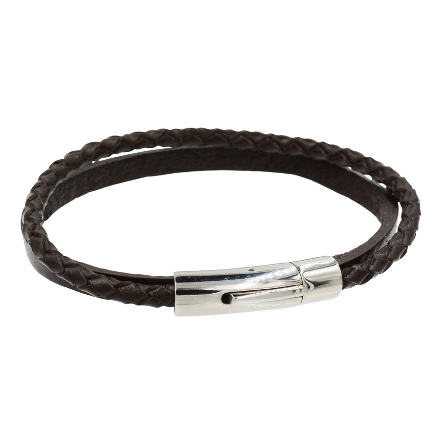 Double Mixed Leather Bracelet