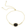 Pave Gemstone Adjustable Bracelet