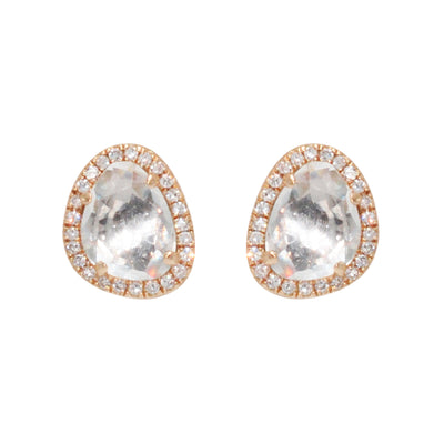 Pebble Studs - White Topaz