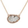 Diamond Slice Necklace - Rose