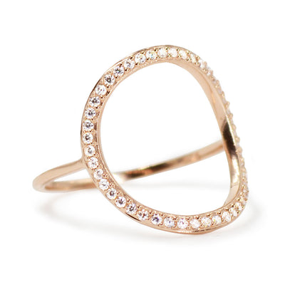 Open Circle Pave Ring