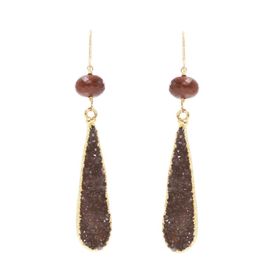 Large Druzy Drop Earrings