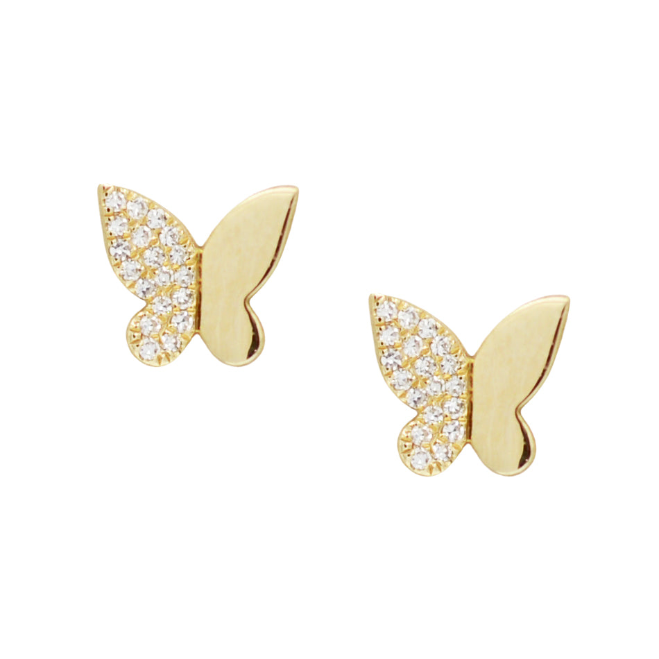 Butterfly Diamond Studs