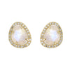 Pebble Studs - Moonstone