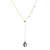 Double Slider Lariat with Mystic Labradorite Drop