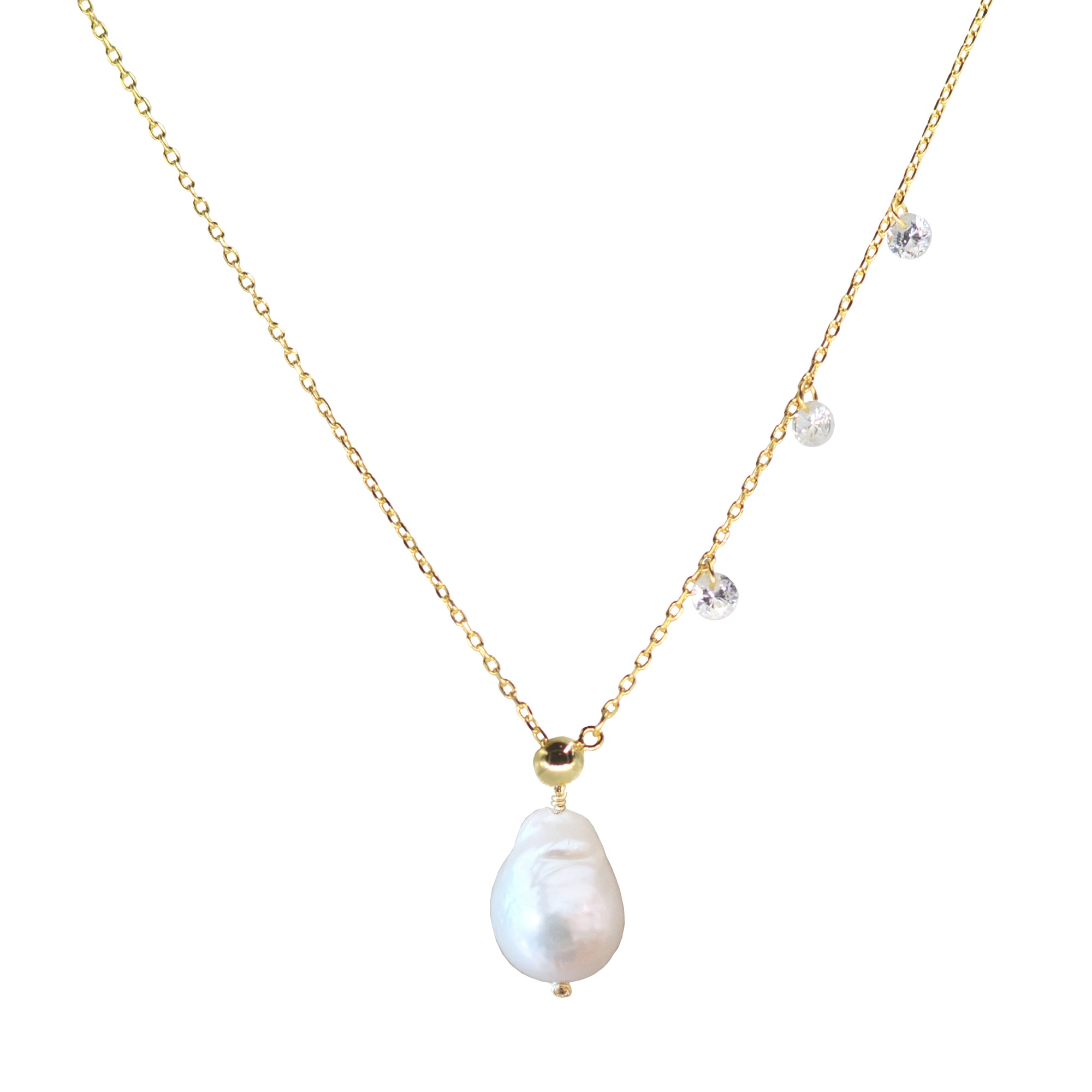 Double Slider Lariat with Pearl Drop