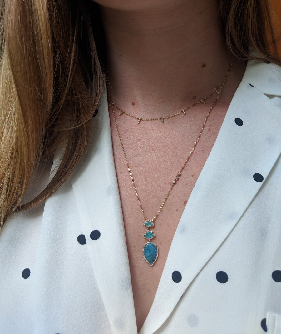 Paraiba Diamond Necklace
