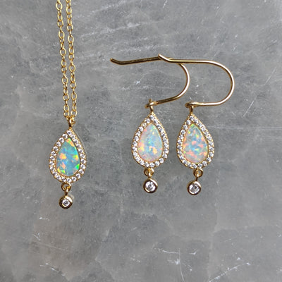 Opal Teardrop Earrings