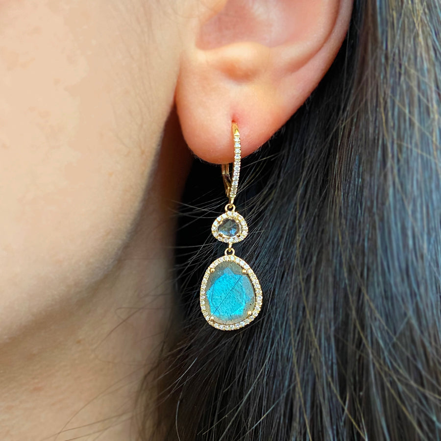 Clara Earrings - Labradorite