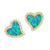 Amore Heart Stud Earrings - Opal