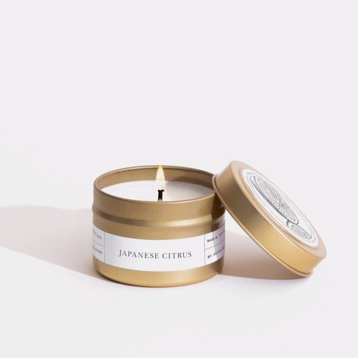 Gold Travel Candle in Japanese Citrus