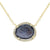 Baby Geode Halo Necklace With Diamonds