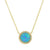 Beacon Opal Circle Necklace With Crystals
