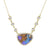 Boulder Opal Necklace With Diamonds