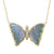 Butterfly Necklace With Mauve Tourmaline and Diamonds